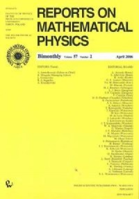 Reports on Mathematical Physics 57/2 - okładka książki