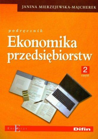 Ekonomika przedsiębiorstw cz. 2. - okładka podręcznika
