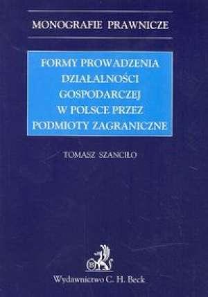 Formy prowadzenia działalności - okładka książki