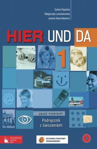 Hier und da 1. Język niemiecki. - okładka podręcznika