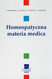 Homeopatyczna materia medica - okładka książki
