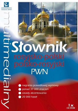 Multimedialny słownik rosyjsko-polski, - okładka podręcznika
