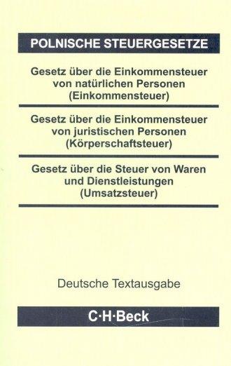 Polnische Steuergesetze - okładka książki