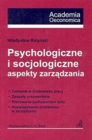 Psychologiczne i socjologiczne - okładka książki