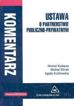 Ustawa o partnerstwie publiczno-prywatnym. - okładka książki