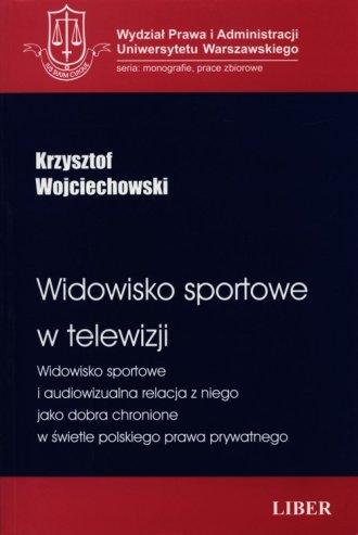Widowisko sportowe w telewizji - okładka książki