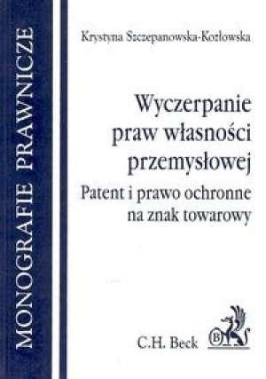 Wyczerpanie praw własności przemysłowej - okładka książki